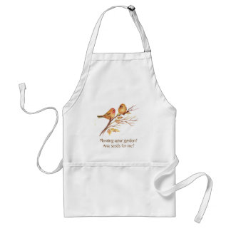 Funny, Planting a Garden?Cute Sparrow Gardening Aprons