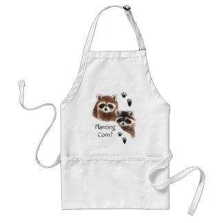 Funny, Planting Corn? Garden Cute  Raccoons Standard Apron