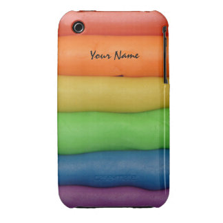 Funny Play Dough in Rainbow Colors Case-Mate iPhone 3 Cases