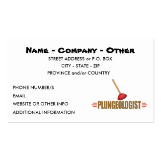 Funny Plumbing Pack Of Standard Business Cards