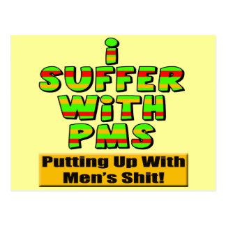 Funny  PMS T-shirts and Gifts For Her Postcard