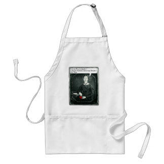 Funny Poet Emily Dickinson Valentine's Day Adult Apron