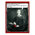 Funny Poet Emily Dickinson Valentine's Day Postcard