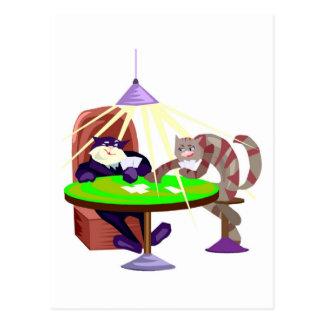 Funny Poker Night Cats Postcard