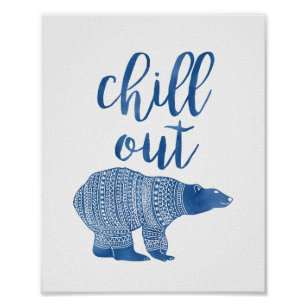 polar bear posters prints zazzle uk. Black Bedroom Furniture Sets. Home Design Ideas