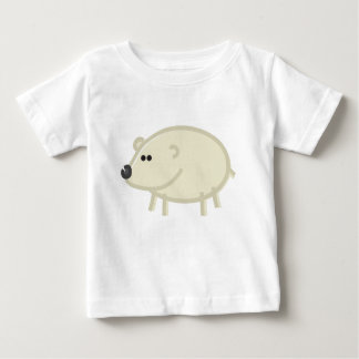 Funny Polar Bear on White Baby T-Shirt