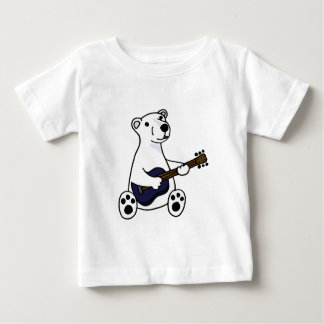Funny Polar Bear Playing Guitar Baby T-Shirt