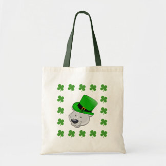 Funny Polar Bear Tote Bag - St Patricks Day Gifts