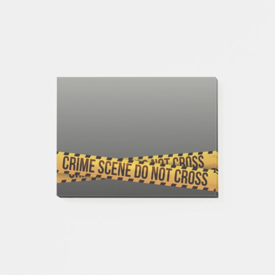 Funny Police Crime Scene Barricade Post-it Notes