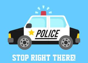 Rlvzcachecouk Funny Police Patrol Car Happy Bir