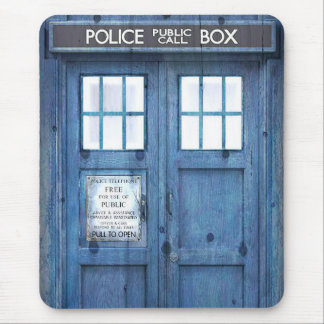Funny Police phone Public Call Box Mouse Mat