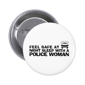 Funny Police Woman 6 Cm Round Badge
