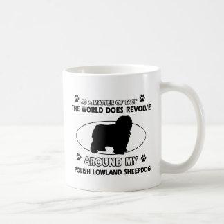 Funny POLISH LOWLAND SHEEPDOG designs Basic White Mug