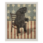 Funny Political GOP Elephant Takes the Chair Poster