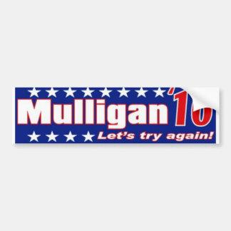 Funny political sticker bumper sticker