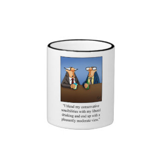 Funny Politics and Drinking Cartoon Gift! Coffee Mugs