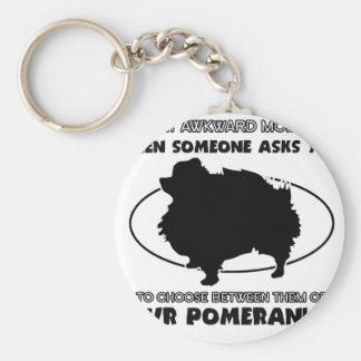Funny pomeranian designs keychain