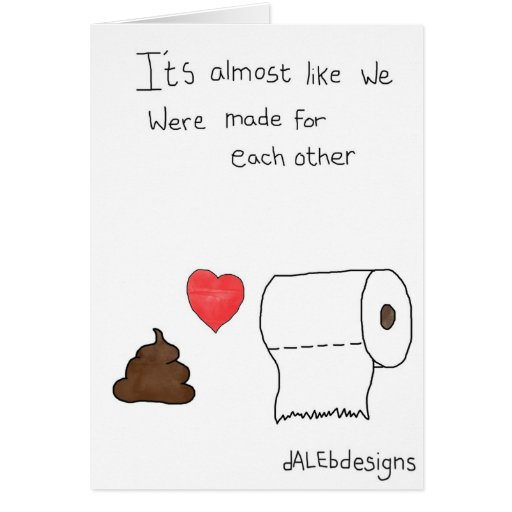 Funny Poo Greetings Card - Valentines Day