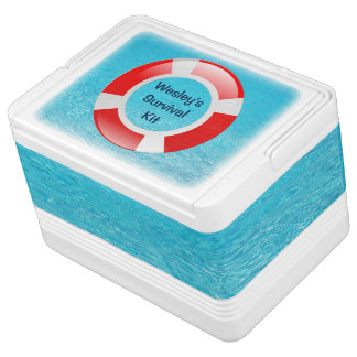 Funny Pool Water and Life Preserver Survival Kit Igloo Cool Box