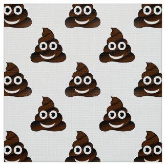 funny poop emoji fabric