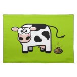 Funny Pooping Cow Placemat