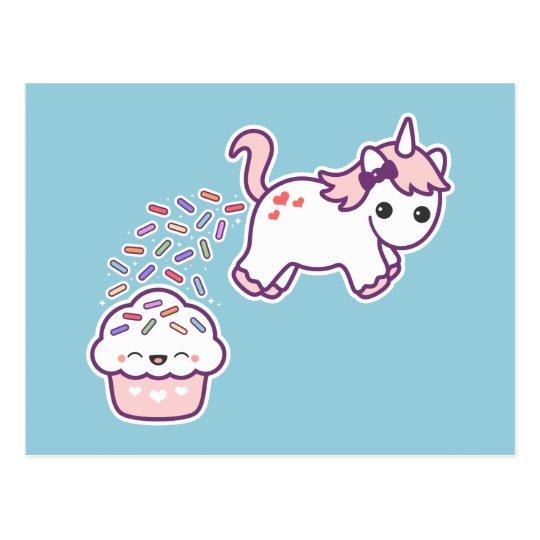 Funny Pooping Unicorn Postcard