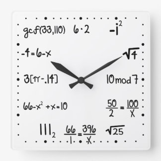 Funny Pop Quiz Math Genius Wallclock