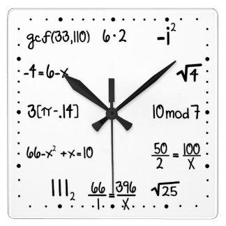 Funny Pop Quiz Math Genius Wallclock