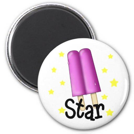 Funny Pop Star Girl Refrigerator Magnets