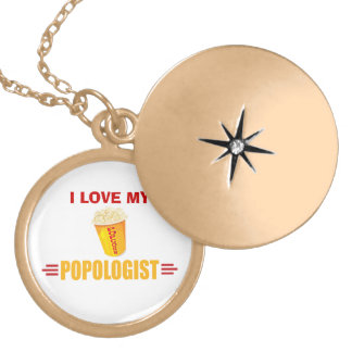 Funny Popcorn Personalized Necklace