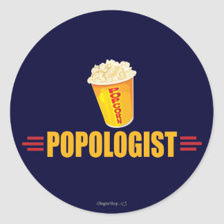 Funny Popcorn Round Sticker
