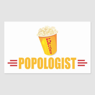 Funny Popcorn Rectangular Sticker