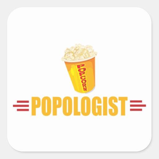 Funny Popcorn Sticker