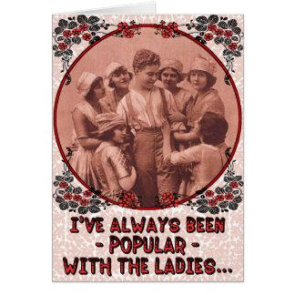 "Funny ""Popular"" Vintage Retro Wedding Anniversary Greeting Card"