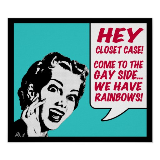 Funny Poster - We Have Rainbows!