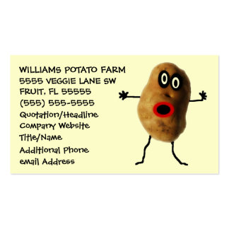 Funny Potato Farmer Advertising Pack Of Standard Business Cards