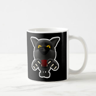 funny pouncing black panther mugs