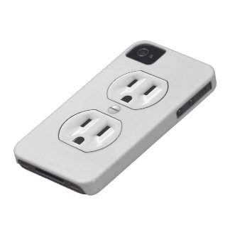 Funny Power Outlet Case-Mate iPhone 4 Cases