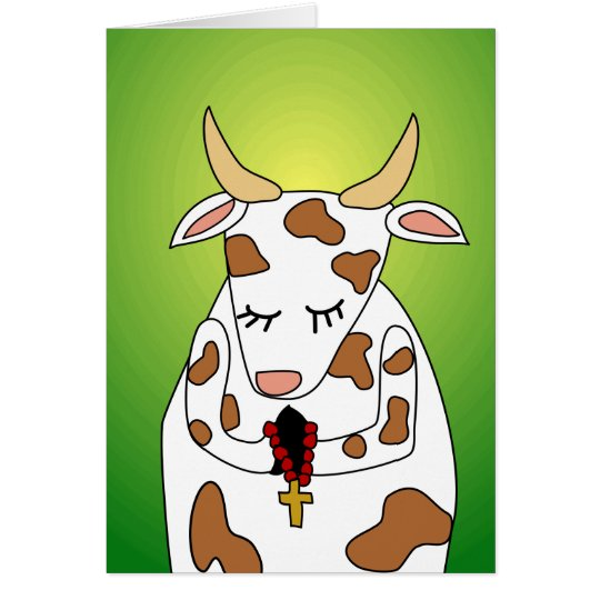 Funny Praying Holy Cow Old Age Humour Birthday Card