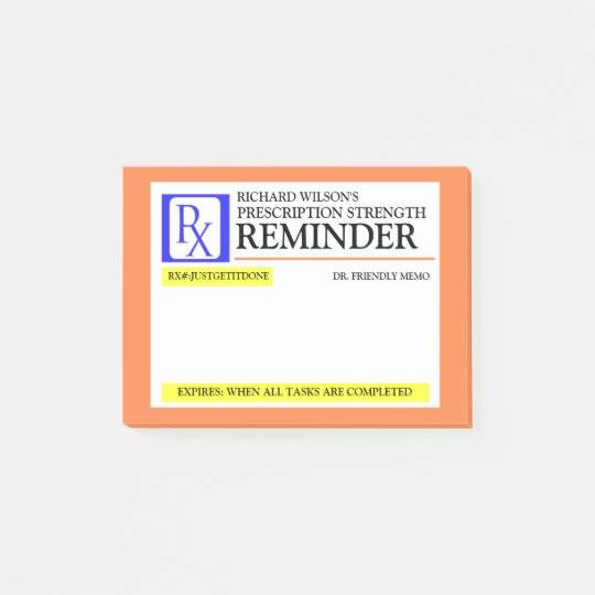 Funny Prescription Label Post-it Notes