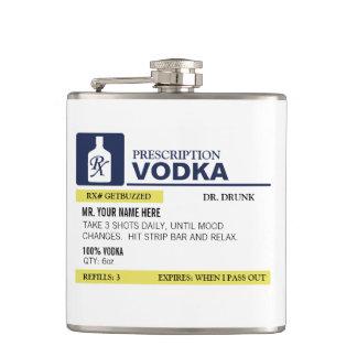 Funny Prescription Vodka Flasks