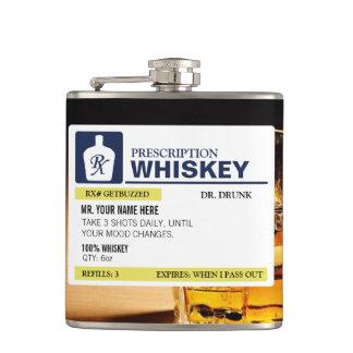 Funny Prescription Whiskey Flask
