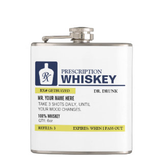 Funny Prescription Whiskey Hip Flask