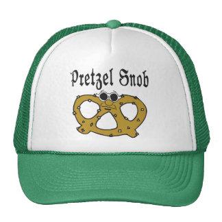 Funny Pretzel Snob Trucker Hats