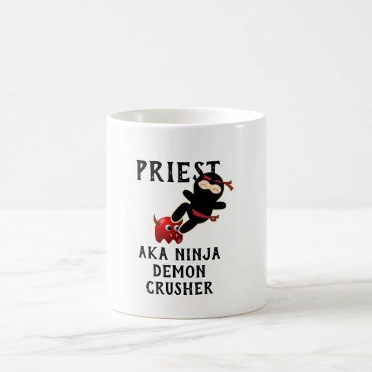 Funny Priest Gift AKA Ninja Demon Crusher Coffee