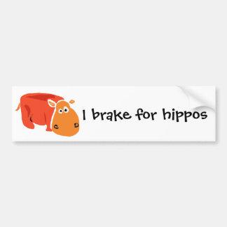 Funny Primitive Art Hippo Bumper Sticker