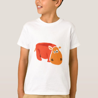 Funny Primitive Art Hippo T-Shirt