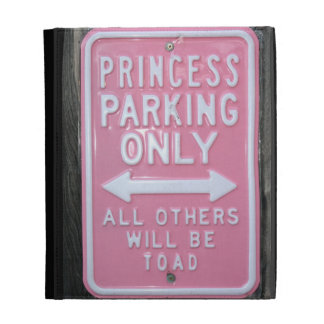 Funny Princess Parking Only sign iPad Folio Case