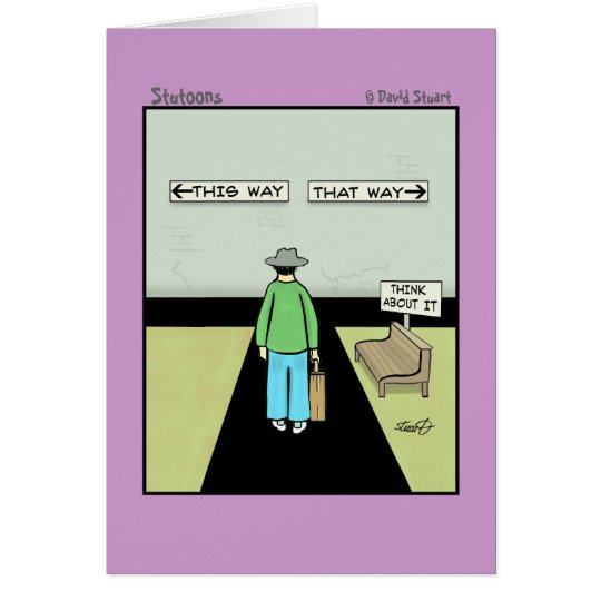 Funny Procrastination Cartoon Card