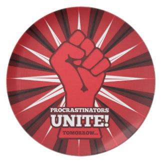 Funny: Procrastinators Unite! (Tomorrow) Plate